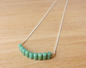 Marmol / Silver 925 Necklace - Green Turquoise