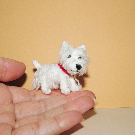Miniature Westie Dog West Highland White Terrier Small Dog Etsy