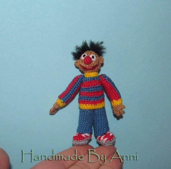 Miniatur Sesamstraße Figur Ernie Miniatur Sesam Straße Etsy