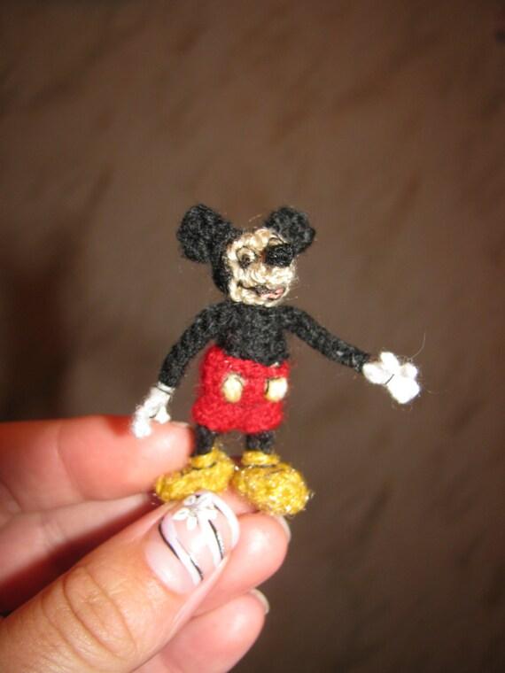 Mickey Mouse Miniatur Amigurumi Häkeln Mickey Mouse Handmade Etsy