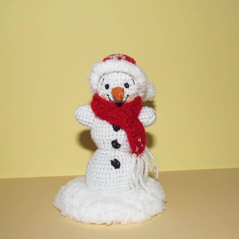 Cute Miniature Snowman Christmas Snowman Handmade Crochet Etsy