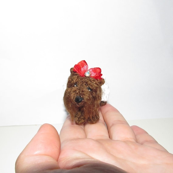 Miniature Yorkie Dog Mini Yorkshire Terrier Small Dog Figure Amigurumi Dog Stuffed Toy Miniature Crochet Dog Portrait Dog Lover Gift