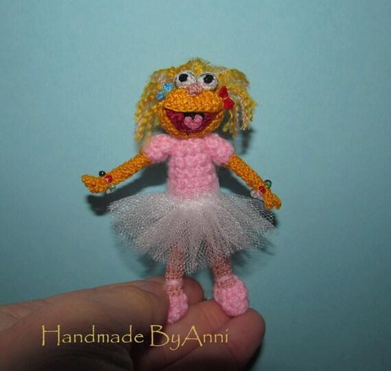 Miniatur Sesamstraße Charakter Miniatur Zoe Sesame Street Zoe Etsy