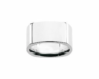 Small Duality Ring Modern Eco friendly recycled sterling silver squared shape ring w brushed and shiny finish perfect for women or men