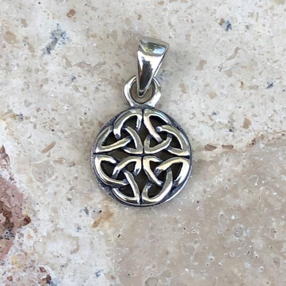 Sterling Silver Antiqued Celtic Knot Pendant