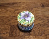 FENTON collectible fine bone China trinket box with To my wife with love under lid, wedding ring box, grooms gift to bride to be or wife