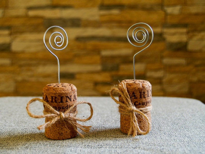 Champagne Cork Place Card Holder Set Of 15