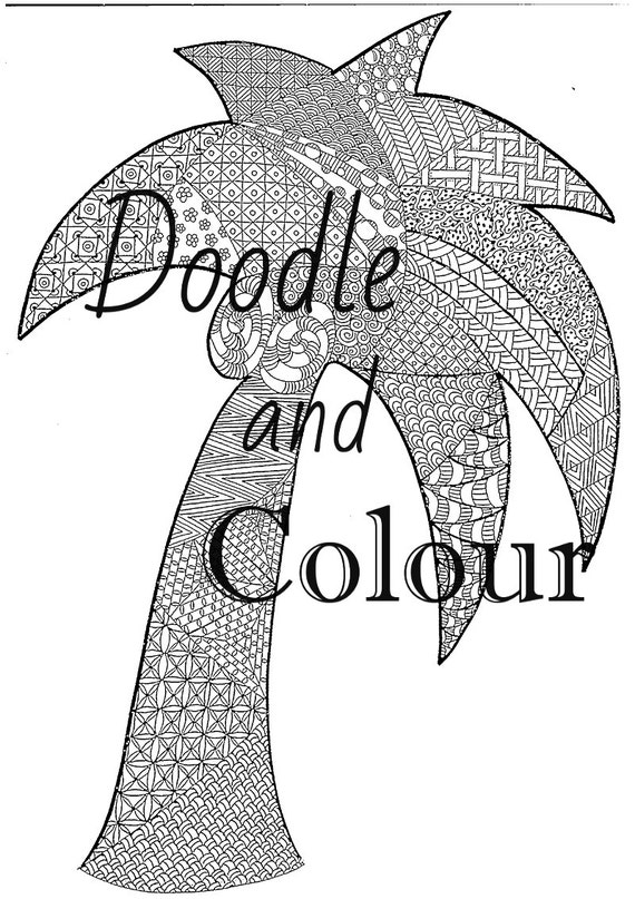 Tree Adult Colouring Page Instant Download Printable | Etsy