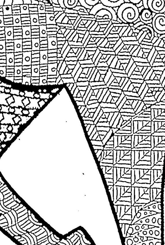 Caballo adulto colorear página instante descargar para   Etsy