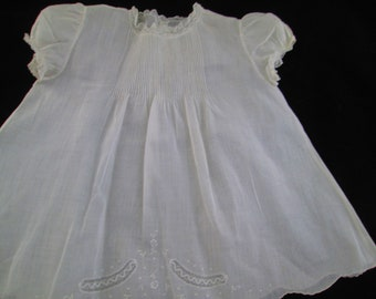 65d2d8278e0 Baby Dress of White Batiste
