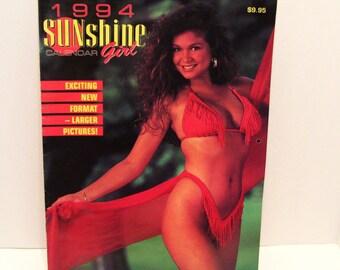 1994 Pinup Sunshine Girl Calendar Bikini Swimsuit 13 Models Canada