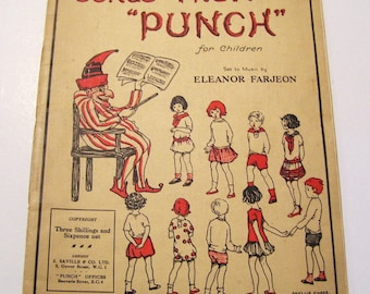 1920s Punch Magazine Songs from Punch Eleanor Farjeon Ill. Phyllis Chase Vintage