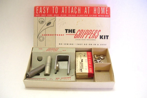 Vintage Snap Fasteners The Gripper Kit Sewing Notions Accessories Maxton  Company