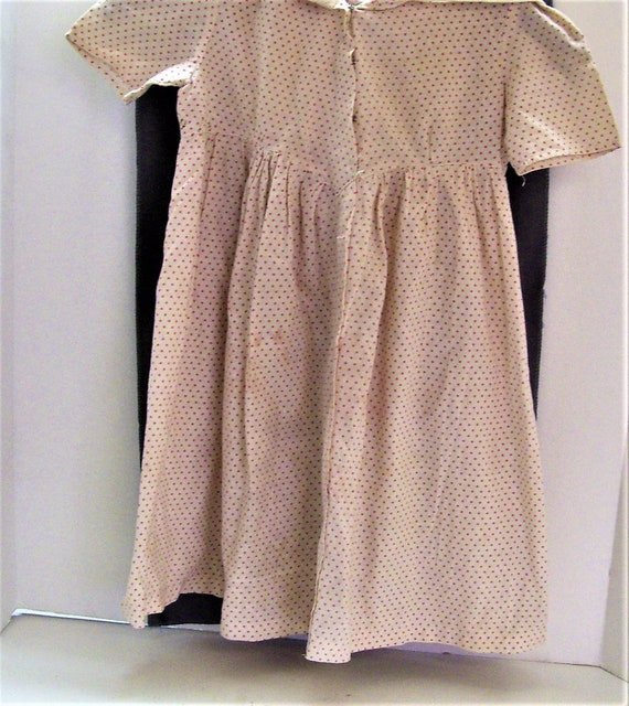 Vintage  Polka Dot Childs Dress Amish Style Theatr