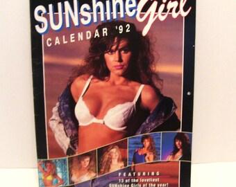 1992 Pinup Sunshine Girl Calendar Bikini Swimsuit Models Canada