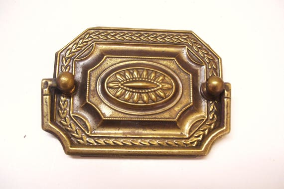 Handle Vintage Solid Brass Furniture Pull Hardware Octagonal Roset