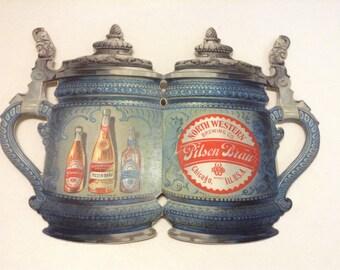 Rare 1893 Paper Breweriana Advertising North Western Brewing Co Chicago  Ill. U.S.A. - Ephemera