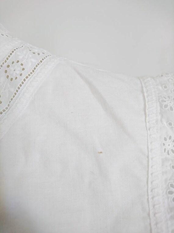 Antique Victorian Edwardian Cotton Camisole Blous… - image 3