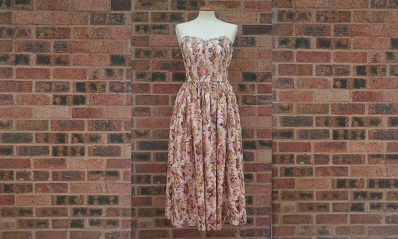 Vintage 50's Strapless Evening Dress XS