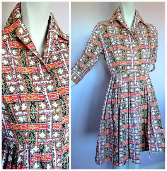 Vintage 40's Day Dress XXS
