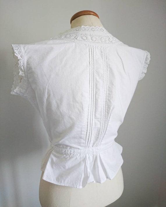 Antique Victorian Edwardian Cotton Camisole Blous… - image 5