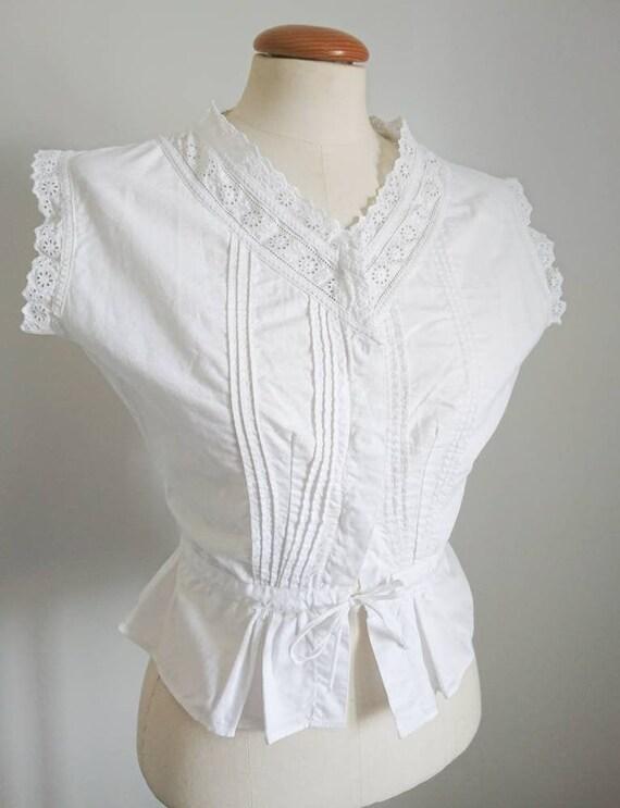 Antique Victorian Edwardian Cotton Camisole Blouse