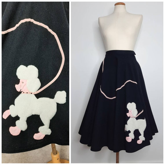 Vintage 50's Poodle Skirt Rare Sz XXS