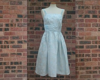 Vintage 50s Brocade Evening Prom Dress