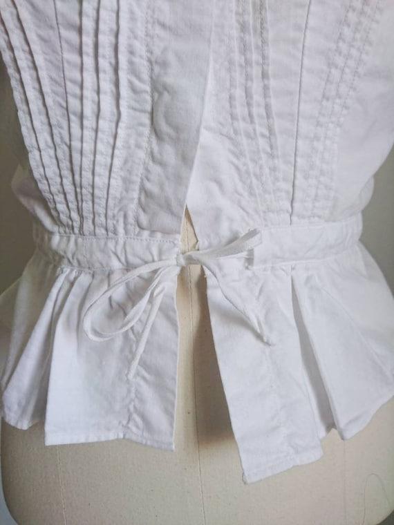 Antique Victorian Edwardian Cotton Camisole Blous… - image 4