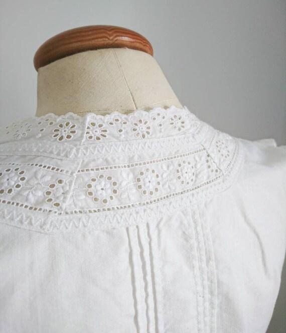 Antique Victorian Edwardian Cotton Camisole Blous… - image 6