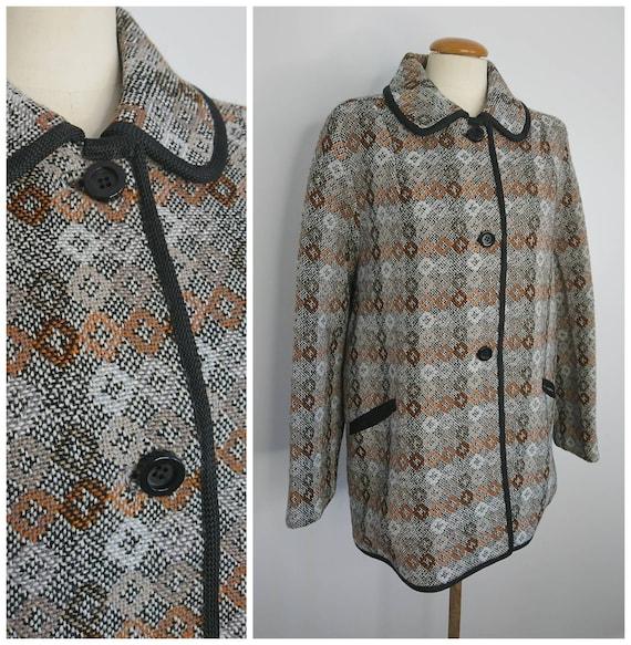 Vintage 60's Welsh Wool Coat sz L