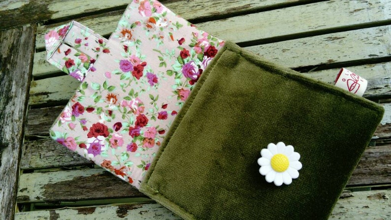 Velvet Fabric Coin Purse Gift for her Evening Purse Unique Gift Pretty Floral Lining Scottish One of Kind Party