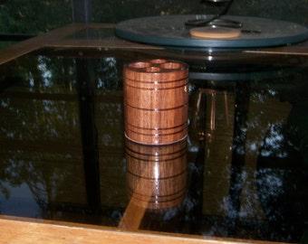 Vapor Stands Trek-E Solid Walnut - Cup Holder Ecig Stand