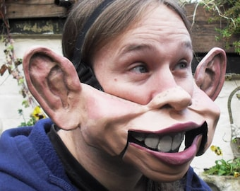 Big Ears Professional ventriloquist  cable controlled mask