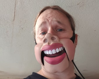 Butt Chin Professional ventriloquist  cable controlled mask