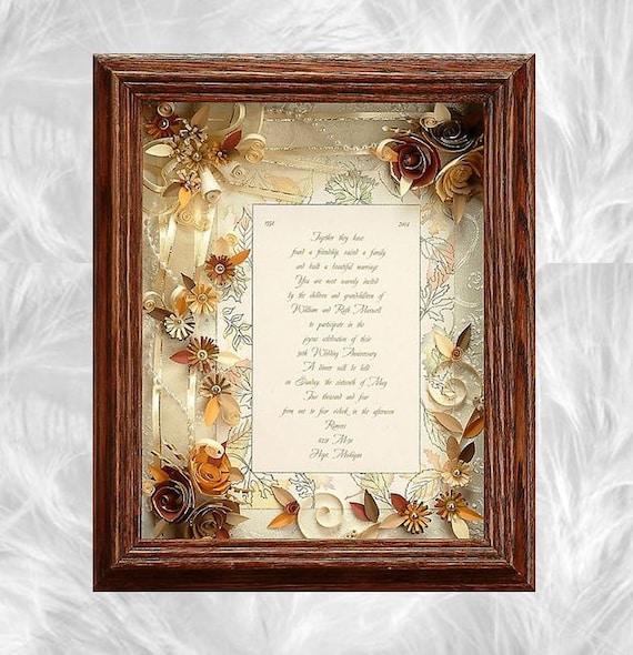 Framed Wedding Invitation. Fall Wedding Custom Wedding Frame | Etsy