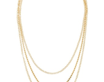 Three chain Shimmer Necklace