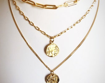 The Roxy Gold Coin Necklace *Bestseller special!!