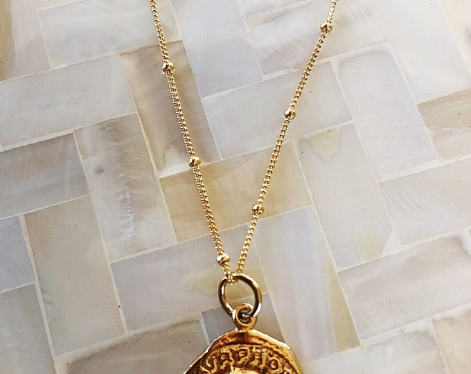 Roman Coin necklace *gold filled