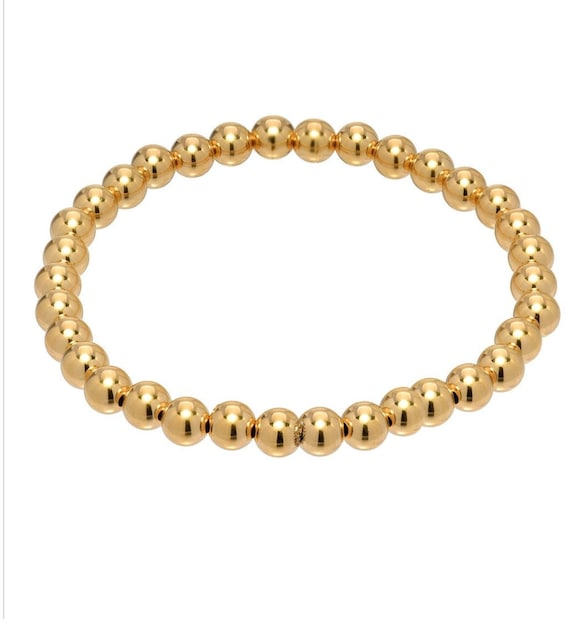 14k gold filled 7mm Bead Bracelet