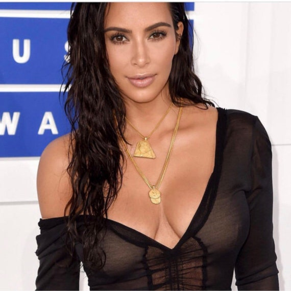 Kim Kardashian Three Chain Necklaces 15%off