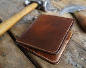 Men's Leather Wallet, Handmade Bi-fold Wallet, 3rd Anniversary Gift For Him, Everyday Cardholder, Wallet for Boyfriend