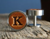 Personalised Cufflinks for Wedding, Initials Cufflinks, Groom and Groomsmen Gift, Gift for Dad, 3rd Anniversary Gift, Gift for boyfriend