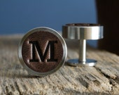 Personalised Cufflinks, Gift for Boyfriend, Groomsmen Gifts, 3rd Anniversary Gift Leather, Wedding Cufflinks, Father of the bride