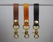 Leather Key Chain, Key Lanyard, Belt Loop Key Holder, Handmade Key Fob, Everyday Carry and Pefect Gift for Boyrfriend