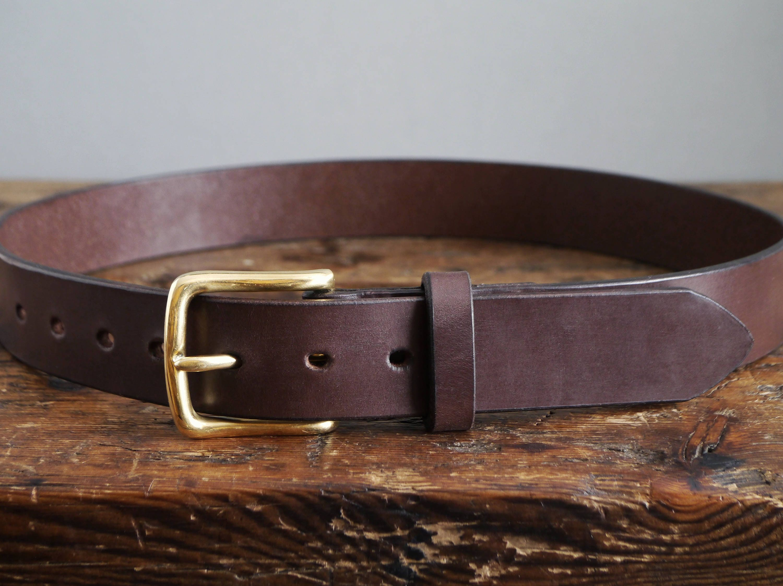 424a59e522e1 Brown Leather Belt A Dark Brown Mens Belt Handmade Leather | Etsy