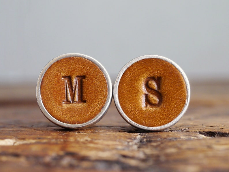 Personalised Cufflinks for Groom and Groomsmen Gift 3rd image 0