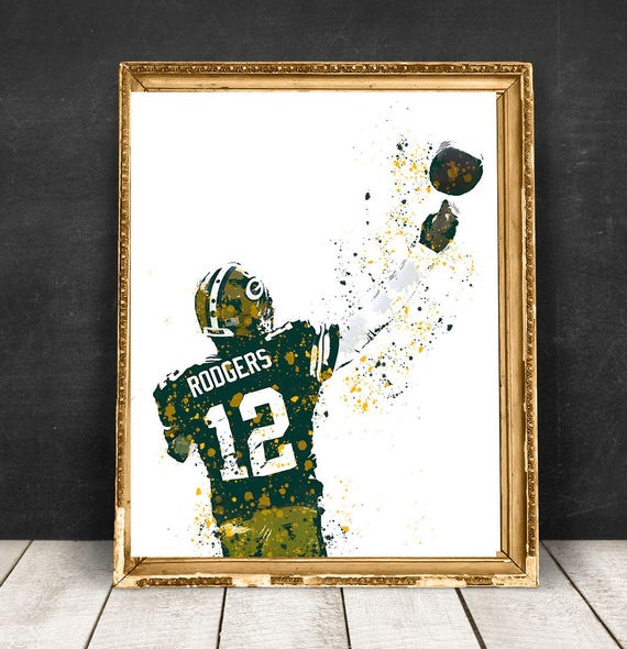 Aaron Rodgers Green Bay Packers NFL Quarterback Print Poster | Etsy