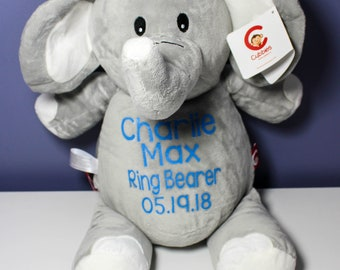 Cubbies  Personalized Stuffed Animal- Wedding Party Gifts Ring Bearer Gift Flower Girl Gift Bridesmaid Gift