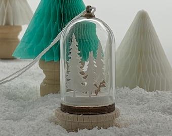 Miniature Woodland Scene Dome Decoration